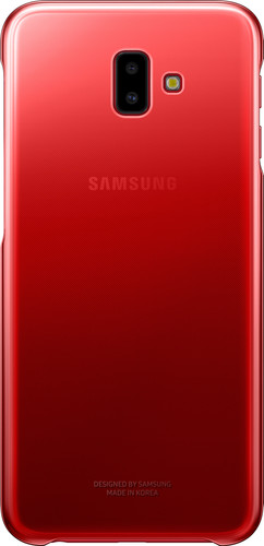 Samsung Galaxy J6 Plus Gradation Clear Back Cover Red Main Image