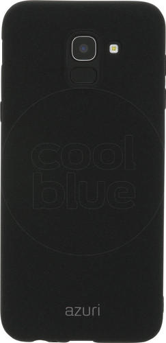 Azuri Flexible Sand Samsung Galaxy J6 (2018) Back Cover Black Main Image