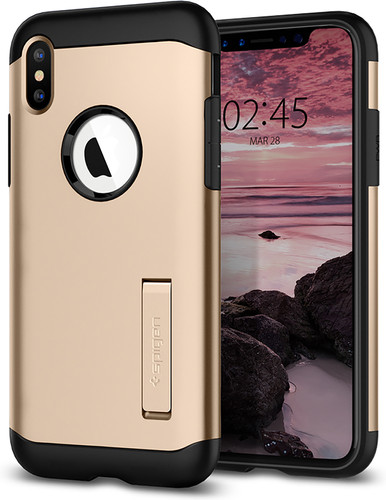 Spigen Slim Armor Apple iPhone Xs / X Back Cover Gold Main Image