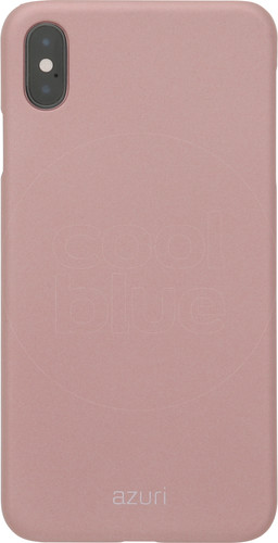 Azuri Metallic Soft Touch Apple iPhone Xs Max Back Cover Pink Main Image