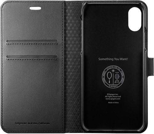 Spigen Wallet S Apple iPhone Xs / X Book Case Black Main Image