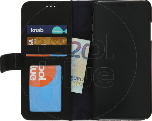 Decoded 2-in-1 Leather Wallet Apple iPhone Xs Max Book Case Black Main Image