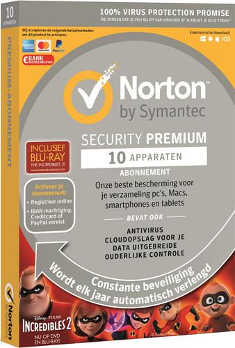 Norton Security Premium 2019 | 10 Apparaten | Incredibles 2 Main Image