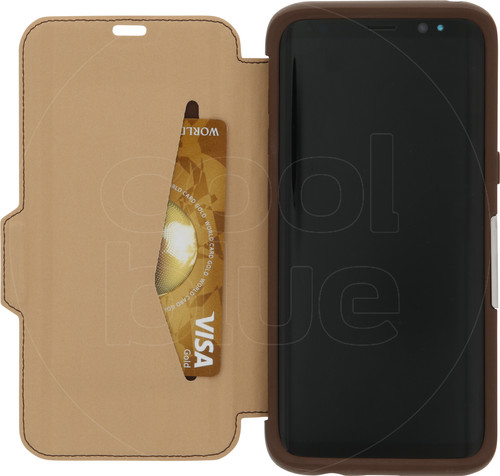 finest selection e4a49 9969f Otterbox Strada Samsung Galaxy S8 Book Case Brown