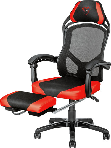 Trust GXT 706 Rona Gaming Chair with Footrest Black / Red Main Image