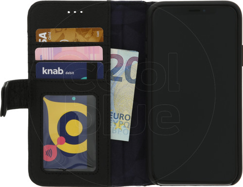 Decoded Leather Impact Wallet Apple iPhone X/Xs Book Case Black Main Image
