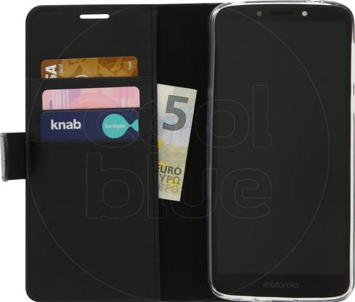 Azuri Wallet Magnetic Motorola Moto E5 Plus Book Case Black Main Image