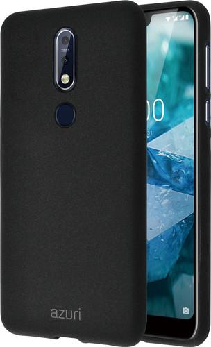 Azuri Flexible Sand Nokia 7.1 Back Cover Black Main Image