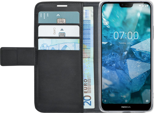 Azuri Wallet Magnet Nokia 7.1 Book Case Black Main Image