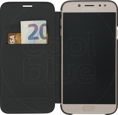 Samsung Galaxy J7 (2017) Wallet Book Case Black Main Image