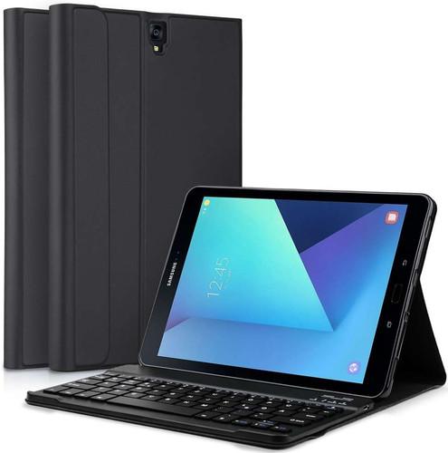 Just in Case Premium Samsung Galaxy Tab S3 Book Case Zwart QWERTY Main Image