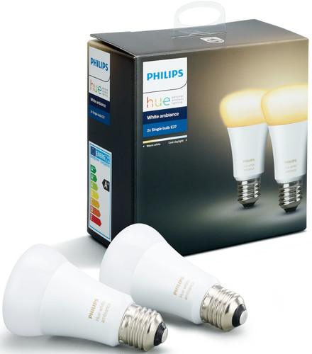 Philips Hue White Ambiance E27 Duopack Main Image