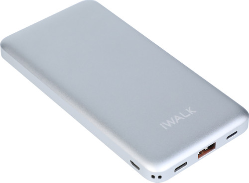 iWalk Chic Quick Charge Power Bank 10,000 mAh Silver Main Image