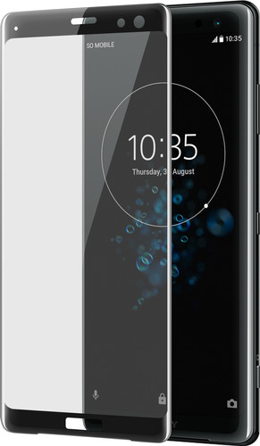 Azuri Tempered Glass Sony Xperia XZ3 Screen Protector Black Main Image
