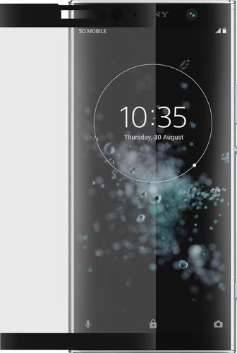 Azuri Tempered Glass Sony Xperia XA2 Plus Screen Protector Black Main Image