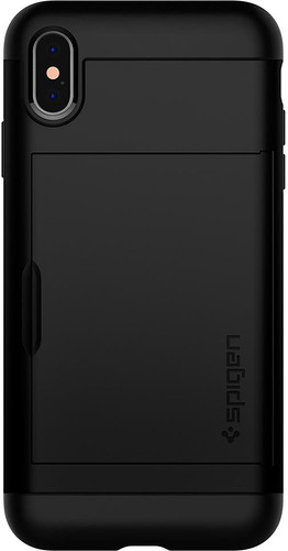 new product 2f251 c7066 Spigen Slim Armor CS iPhone Xs Max Back Cover Black