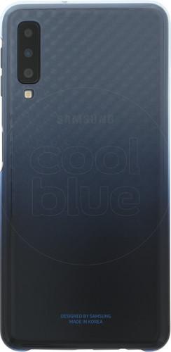 Samsung Galaxy A7 (2018) Gradation Clear Back Cover Blue Main Image