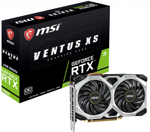 MSI Geforce 6GB D6 RTX 2060 Ventus XS 6G OC Main Image