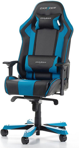 DXRacer KING Gaming Chair Zwart/Blauw Main Image