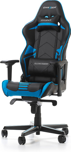 DXRacer RACING PRO Gaming Chair Zwart/Blauw Main Image