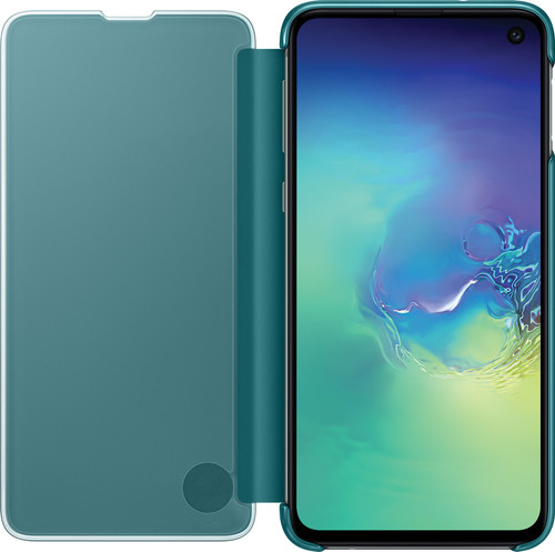 Samsung Galaxy S10e Clear View Cover Book Case Green Main Image