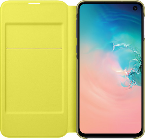Samsung Galaxy S10e LED View Case Cover White/Yellow Main Image
