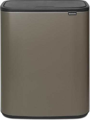Brabantia Touch Bin 50 Liter Wit.Brabantia Bo Touch Bin 60 Liter Platinum