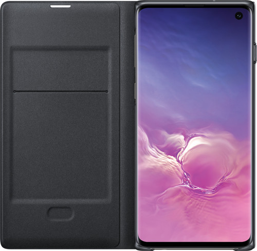 Samsung Galaxy S10 LED View Cover Book Case Black Main Image