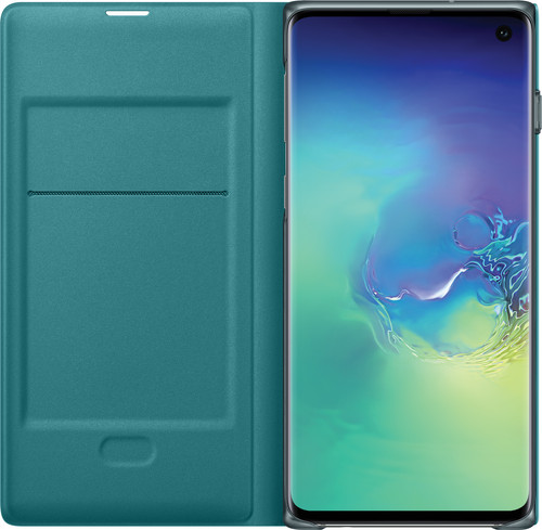 Samsung Galaxy S10 LED View Cover Book Case Groen Main Image