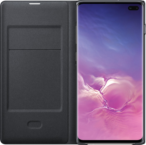 Samsung Galaxy S10 Plus LED View Cover Book Case Black Main Image