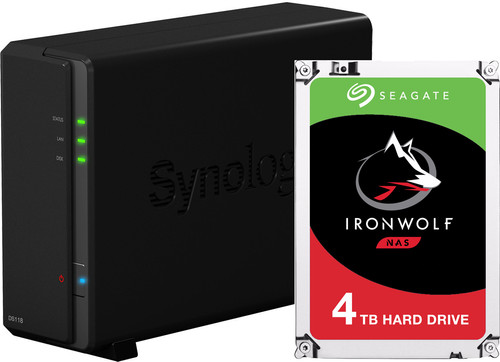 Synology DS118 met 1x Seagate IronWolf 4 TB harde schijf Main Image