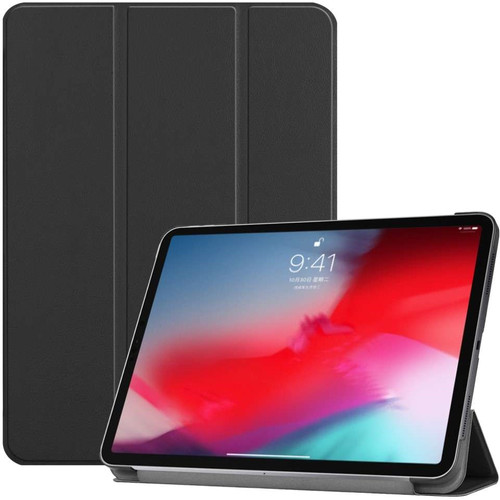 Just in Case Smart Tri-Fold Apple iPad Pro 11 Inch (2018) Book Case Black Main Image