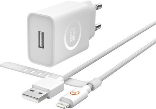 BlueBuilt 2.4A Charger with Lightning Cable 1.5 Meters White Main Image