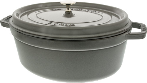 Staub Oval Dutch Oven 31cm Graphite Gray Main Image
