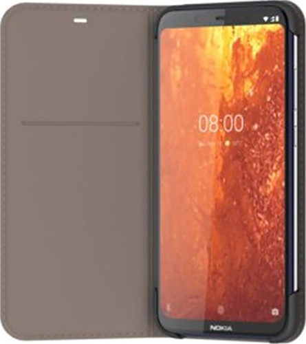 Nokia 8.1 Slim Flip Book Case Gray Main Image