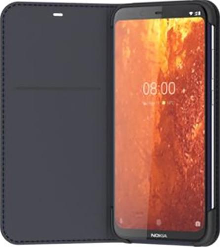 Nokia 8.1 Slim Flip Book Case Blue Main Image