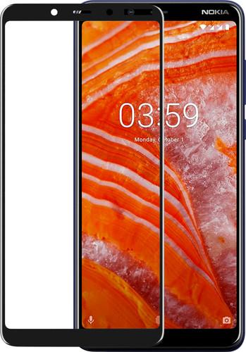 Azuri Gehard Glas Nokia 3.1 Plus Screenprotector Glas Zwart Main Image