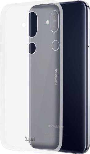 Azuri Glossy TPU Nokia 8.1 Back Cover Transparent Main Image