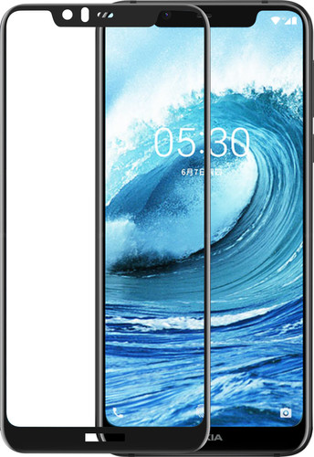 Azuri Tempered Glass Nokia 5.1 Plus Screen Protector Glass Black Main Image