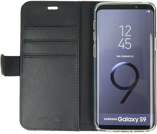 Valenta Booklet Classic Luxury Galaxy S9 Book Case Black Main Image
