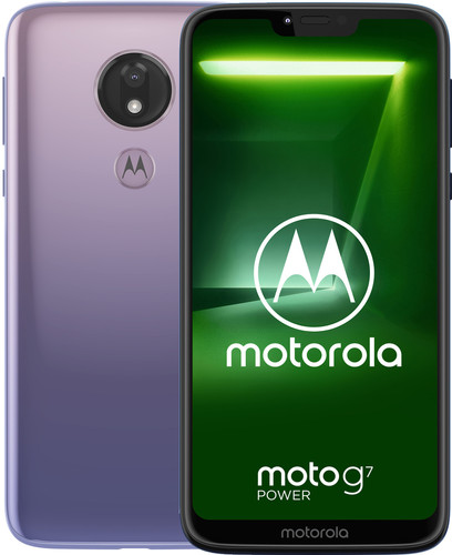 Motorola Moto G7 Power Paars Main Image
