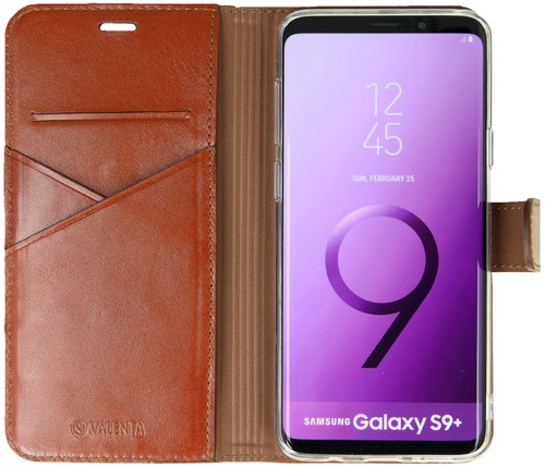 Valenta Booklet Premium Galaxy S9 Plus Book Case Brown Main Image