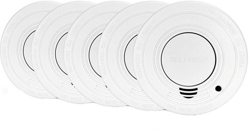 Alecto SA-18 5-PACK Smoke detector 5 pieces with time-out button Main Image