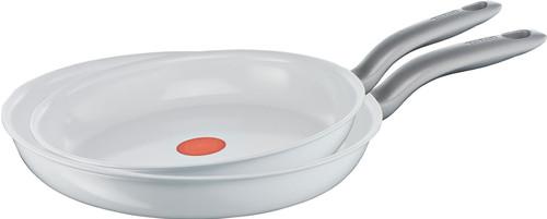 Tefal Ceramic Control White Induction Frying Pan Set 24+28cm Main Image