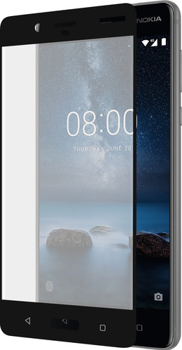 Azuri Nokia 8 Screen Protector Curved Tempered Glass Black Main Image