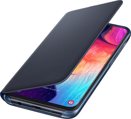 Samsung Galaxy A50 Wallet Book Case Black / Blue Main Image