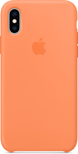 Apple iPhone Xs Silicone Case Papaya Main Image