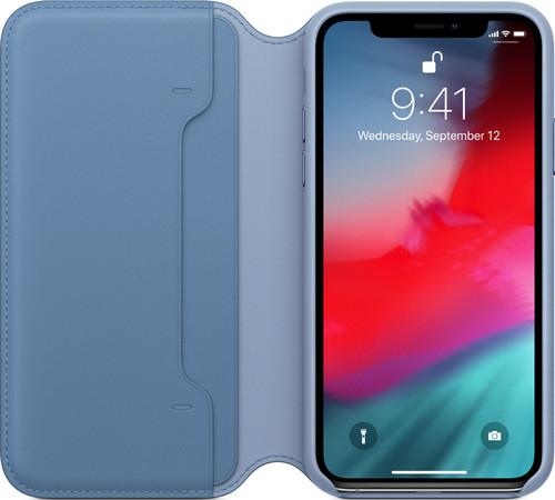Apple iPhone Xs Leather Folio Cornflower blue Main Image