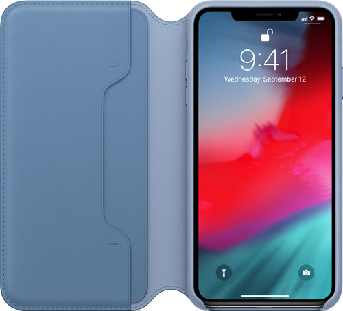 Apple iPhone Xs Max Leather Folio Cornflower Blue Main Image