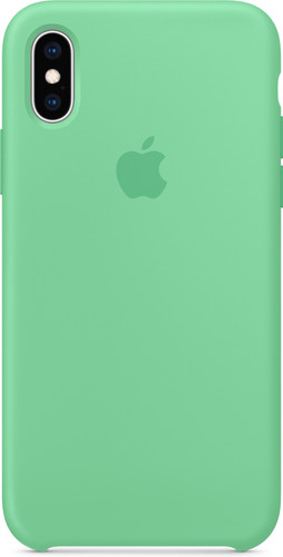 Apple iPhone Xs Silicone Case Mint Main Image